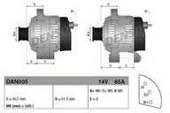 Generator/alternator DENSO DAN005
