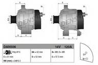 Generator/alternator DENSO DAN506