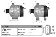 Generator/alternator DENSO DAN562