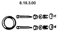 Set montare, toba de esapament EBERSPAECHER 8.19.3.00