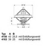 Termostat, lichid racire WAHLER 4163.79D