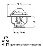Termostat, lichid racire WAHLER 4174.82D