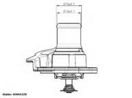 Termostat, lichid racire WAHLER 410937.82D