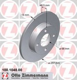 Disc frana ZIMMERMANN 100.1048.00