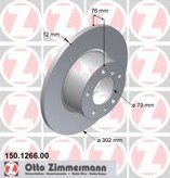 Disc frana ZIMMERMANN 150.1266.00