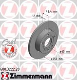Disc frana ZIMMERMANN 600.3222.20