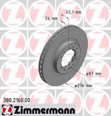 Disc frana ZIMMERMANN 380.2160.00