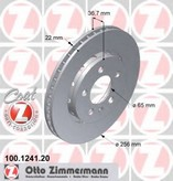 Disc frana ZIMMERMANN 100.1241.20