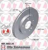 Disc frana ZIMMERMANN 400.3602.20