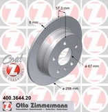 Disc frana ZIMMERMANN 400.3644.20
