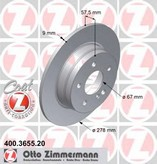 Disc frana ZIMMERMANN 400.3655.20