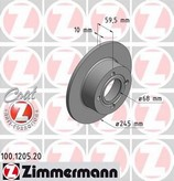 Disc frana ZIMMERMANN 100.1205.20