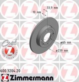Disc frana ZIMMERMANN 600.3204.20
