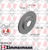Disc frana ZIMMERMANN 180.3014.20