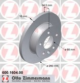 Disc frana ZIMMERMANN 600.1604.00