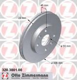 Disc frana ZIMMERMANN 320.3801.00