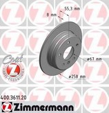 Disc frana ZIMMERMANN 400.3611.20