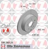 Disc frana ZIMMERMANN 590.2801.20