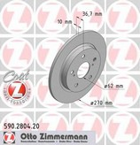 Disc frana ZIMMERMANN 590.2804.20