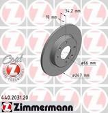 Disc frana ZIMMERMANN 440.2031.20