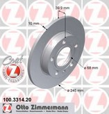 Disc frana ZIMMERMANN 100.3314.20