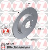 Disc frana ZIMMERMANN 250.1354.20