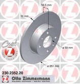 Disc frana ZIMMERMANN 230.2352.20