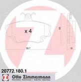Set placute frana, frana disc DACIA Logan  (LS_) 1.4 (LSOA, LSOC, LSOE, LSOG) (55KW / 75CP)ZIMMERMANN 20772.180.1