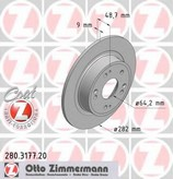 Disc frana ZIMMERMANN 280.3177.20