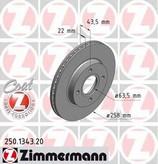 Disc frana ZIMMERMANN 250.1343.20