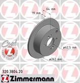 Disc frana ZIMMERMANN 320.3804.20