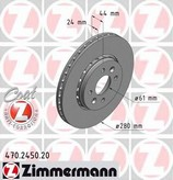 Disc frana ZIMMERMANN 470.2450.20