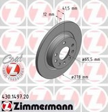 Disc frana ZIMMERMANN 430.1497.20