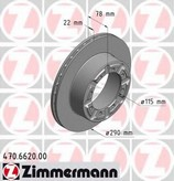 Disc frana ZIMMERMANN 470.6620.00