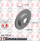 Disc frana ZIMMERMANN 600.3210.20