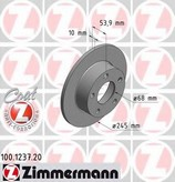 Disc frana ZIMMERMANN 100.1237.20