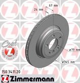 Disc frana ZIMMERMANN 150.3411.20