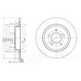 Disc frana DELPHI BG3897C
