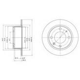 Disc frana DELPHI BG2220