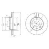 Disc frana DELPHI BG2278