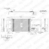 Condensator, climatizare DELPHI TSP0225482