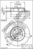 Disc frana METZGER 15373