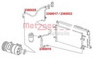 Conducta presiune variabila, aer conditionat METZGER 2360017