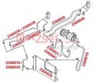Conducta presiune variabila, aer conditionat METZGER 2360037