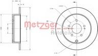 Disc frana METZGER 6110284