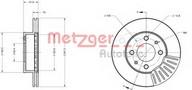 Disc frana METZGER 6110618