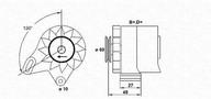 Generator/alternator MAGNETI MARELLI 943356143010