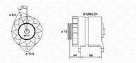 Generator/alternator MAGNETI MARELLI 943356146010