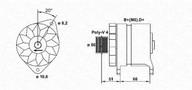 Generator/alternator MAGNETI MARELLI 943356183010