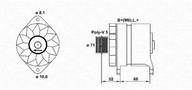 Generator/alternator MAGNETI MARELLI 943356279010